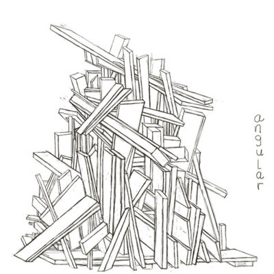 drawing of a pile of boards